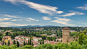 Beautiful view over the surrounding hills of Florence, Italy
