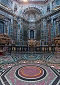 Inside the Basilica di San Lorenzo in Florence, Italy