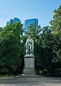 Schiller monument in Frankfurt, Germany