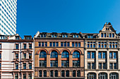Beautiful house facades in the financial district of Frankfurt, Germany