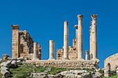 Remains of a Roman temple in Jerash, Jordan