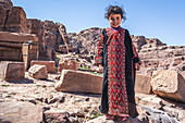 Young Jordanian girl in the hills around Petra, Jordan
