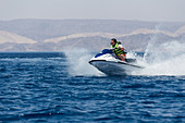 Jet skiing in Tala Bay, Jordan