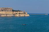 Blick auf die Stadtmauern von Valletta, Malta