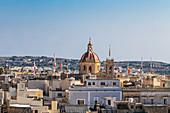 View of Victoria, the capital of Gozo, Malta