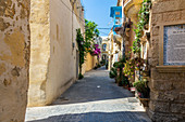The colorful streets of Rabat, Malta