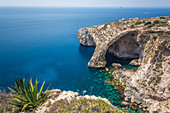 Top view of the Blue Grotto in Malta