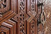 Door decorations in the medina of Marrakech, Morocco