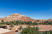 View of the old city from Ait Ben Haddou in Morocco