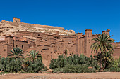 View of the old walls of Ait Ben Haddou in Morocco