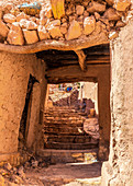 The narrow streets of Ait Ben Haddou, Morocco