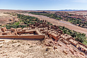 Top view of Ait Ben Haddou, Morocco