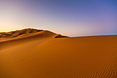 Shortly after sunrise in the Erg Chebbi Desert, Sahara, Morocco