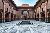 The old Islamic Koran school Ben Youssef Medersa in the medina of Marrakech, Morocco