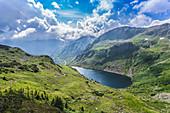 Überblick über die Bergwelt am Sölkpass, Deneck, Steiermark, Österreich