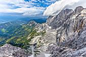 Großartiger Blick vom höchsten Berg der Steiermark, Dachstein, Österreich