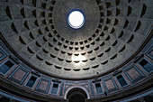 View of the architecture and dome of the Pantheon in Rome, Italy