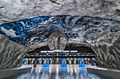 Subway art in the Tunnelbana in Stockholm, Sweden