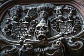 Details inside St. Stephen's Cathedral in Vienna, Austria