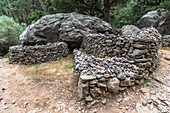 Stone tomb on Samaria Gorge hike, West Crete, Greece