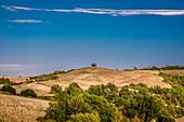 Equestrian trail in Tuscany, Buonconvento, Tuscany, Italy