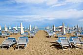 Strand Eraclea Mare in Venetien, Italien