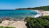 View of Mandraki beach in Skiathos, Greece