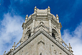View of one of the towers of the Hieronymites in Lisbon, Portugal