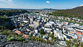 View over the city from Hohensalzburg Castle, Salzburg, Austria