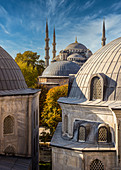 View from Hagia Sophia to Sultan Ahmet Mosque, Istanbul, Turkey