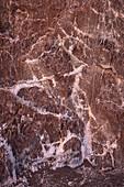 """Salt formations in the """"Valle de la Luna"""" (Moon Valley), San Pedro de Atacama, Atacama Desert, Antofagasta Region, Chile, South America"""