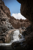 Waterfall in Cañon de Guatin, Atacama Desert, Antofagasta Region, Chile, South America