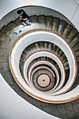 Treppe im Weingut Lapostolle, Santa Cruz, Colchagua Tal (Weinanbau Gebiet), Chile, Südamerika