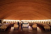 Wine tasting and storage, Lapostolle Winery, Santa Cruz, Colchagua Valley (wine growing area), Chile, South America