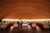 Wein Verkkostung und Lagerung, Weingut Lapostolle, Santa Cruz, Colchagua Tal (Weinanbau Gebiet), Chile, Südamerika