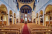 Wooden church Iglesia del Sagrado Corazón de Jesús, Puerto Varas, Region de los Lagos, Chile, South America
