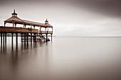Frutillar Pier (Muelle de Frutillar) on Llanquihue Lake, Region de los Lagos, Chile, South America