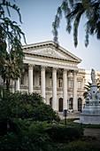 historisches Gebäude ehemaliger Nationaler Kongress, Hauptstadt Santiago de Chile, Chile, Südamerika