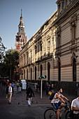 colonial building on Plaza de Armas, capital city Santiago de Chile, Chile, South America