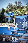 La Chascona (museum in the home of Pablo Neruda), capital Santiago de Chile, Chile, South America