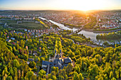 Käppele in Würzburg, Sonnenaufgang, Unterfranken, Franken, Bayern, Deutschland, Europa