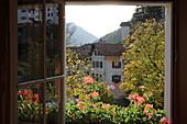 View from a room of the Hotel Bodenhaus, Splügen, Graubünden