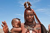 Himba woman with baby, Damaraland, Namibia