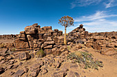 Rocky landscape of the Giants' Playground, Keetmanshoop, Namibia
