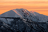 Mt. Feathertop in Alpine National Park at sunrise, Victoria, Australia