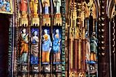 Frankreich, Bas Rhin, Straßburg, Altstadt, UNESCO-Weltkulturerbe, Kathedrale Notre Dame, Westfassade, Licht- und Soundshow im Sommer 2015