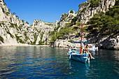 France, Bouches du Rhone, National Park Calanques, Marseille, cove of En Vau