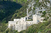 France, Ain, Pays de Gex, Leaz, Fort l'Ecluse, fortified military structure, built between the 16th and 17th centuries on the mountainside