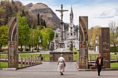 France, Hautes Pyrenees, Lourdes, Sanctuary of Our Lady of Lourdes, Jubilee of Mercy gate