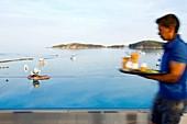France, Corse du Sud, Zonza, Sainte Lucie de Porto Vecchio, Pinarello hotel pool